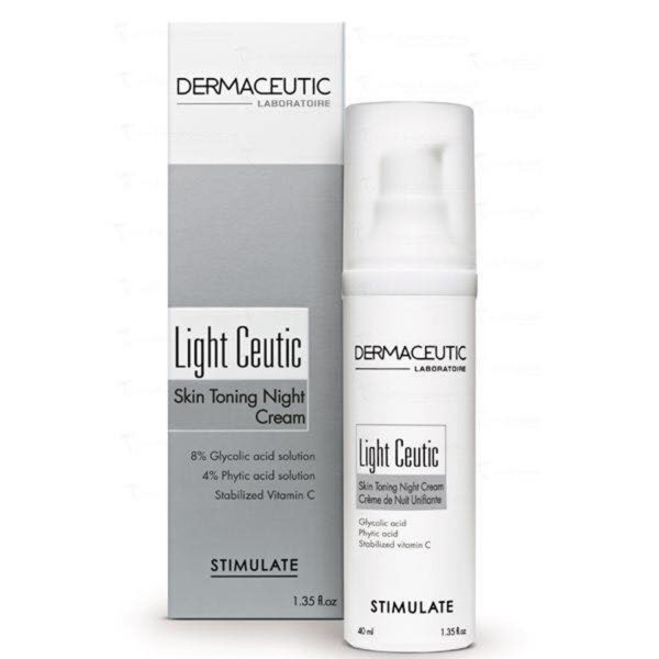 Nočna krema za obraz in telo Dermaceutic Light Ceutic - 40ml
