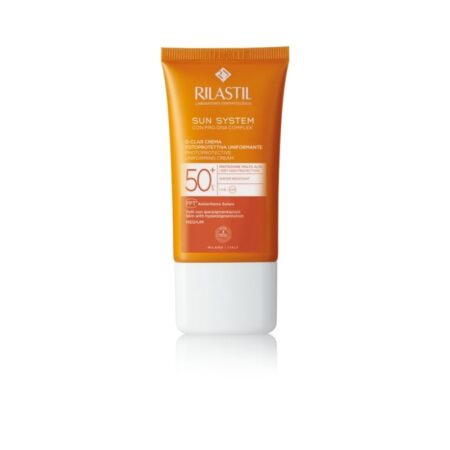 Rilastil Sun System D-Clar medium Photoprotective krema za poenotenje tena in zaščito pred soncem SPF 50+ 40 ml