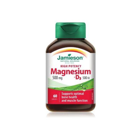 Jamieson Magnesium 500 mg + D3 500IU